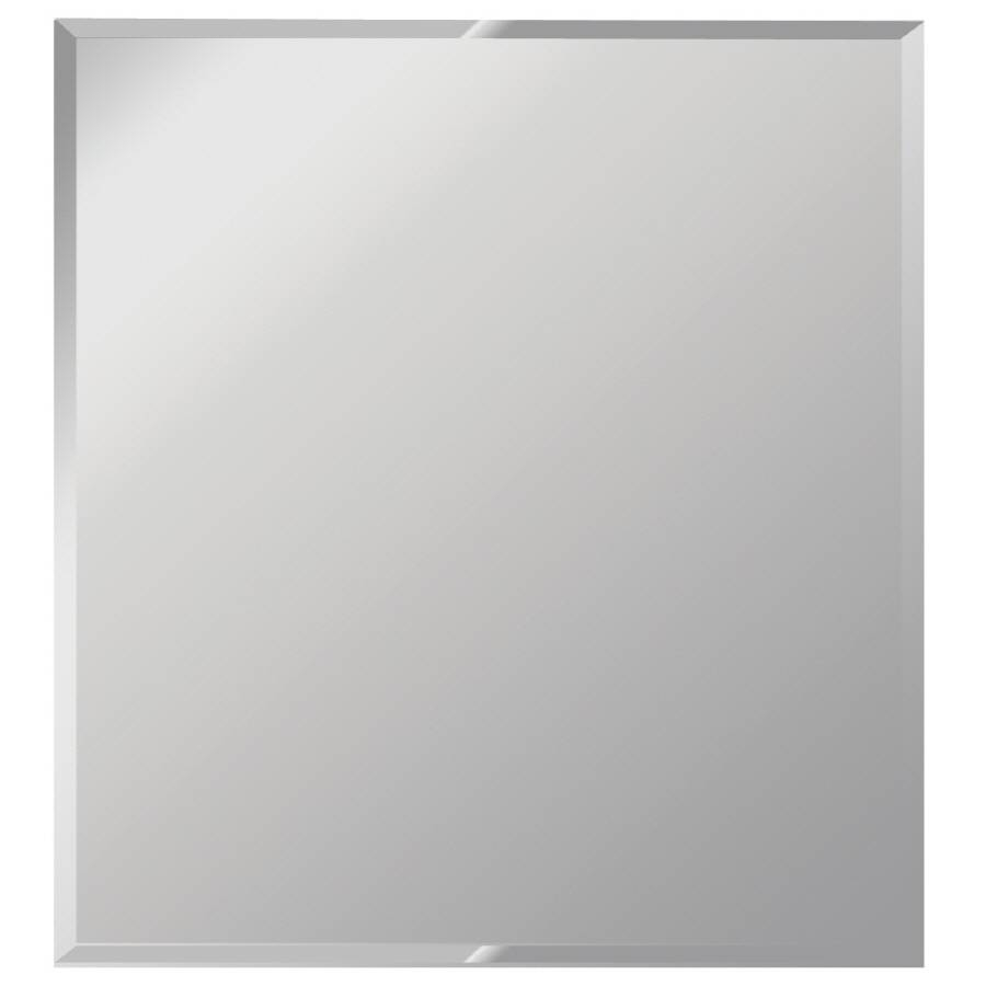 Shop Dreamwalls Silver Beveled Frameless Wall Mirror At Lowes in Chamfered Edge Mirrors (Image 14 of 15)