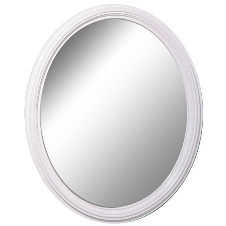 Shop Style Selections White Oval Wall Mirror At Lowes Within Oval White Mirrors (View 4 of 15)