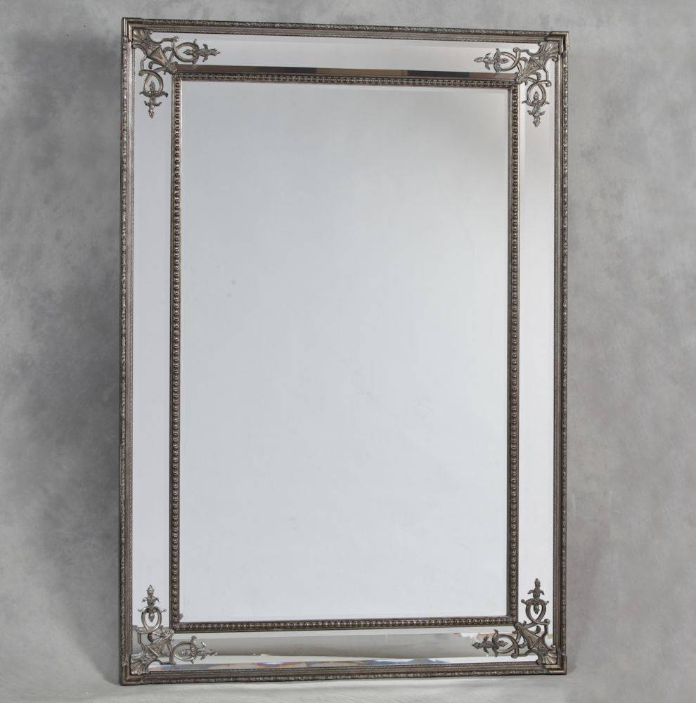 Silver French Style 'cimiero' Wall Mirror 192 X 134Cm | Exclusive in French White Mirrors (Image 11 of 15)