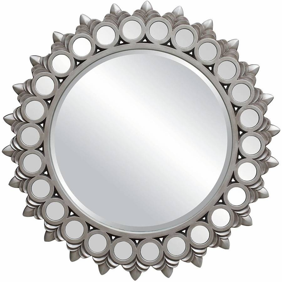 Silver Mirror, Big Round Mirrors For Walls Antique Silver Round Regarding Silver Round Mirrors (View 11 of 15)