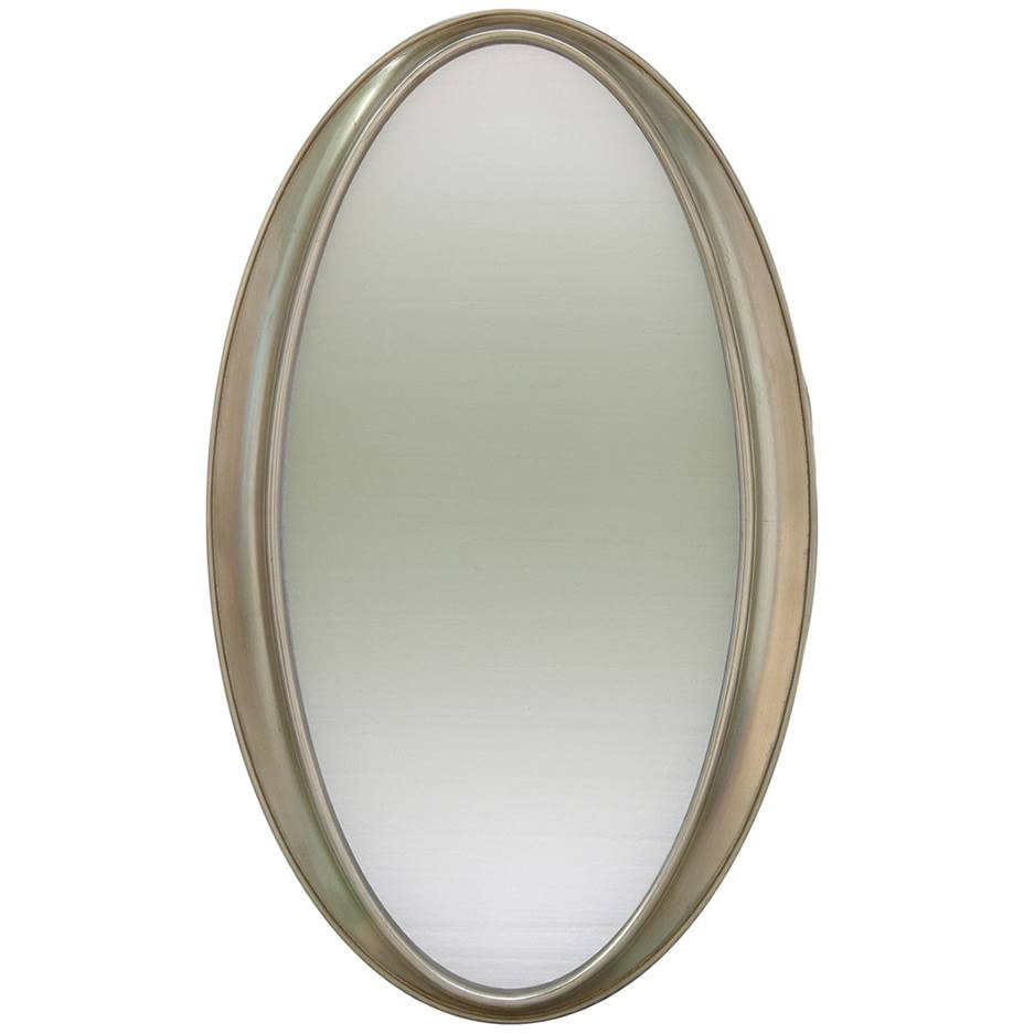 Silver Oval Bevel Mirror | Mirrors.ie throughout Oval Bevelled Mirrors (Image 13 of 15)