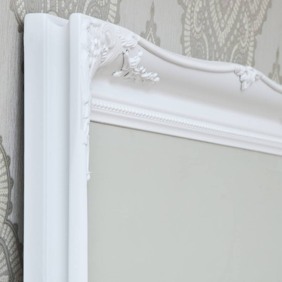Simple Classic French White Mirrordecorative Mirrors Online intended for Large White French Mirrors (Image 13 of 15)