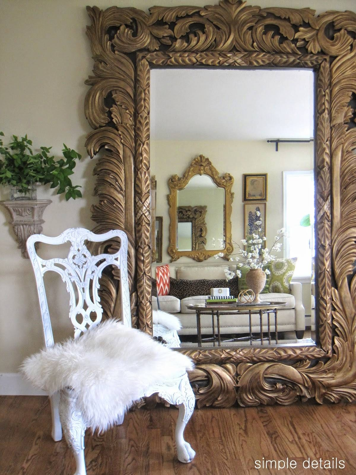Simple Details: Living Room Refresh in Huge Ornate Mirrors (Image 14 of 15)