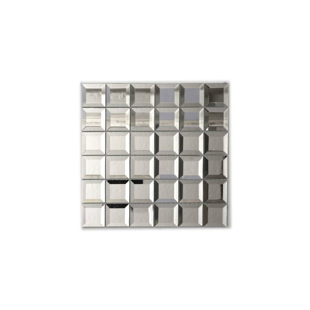 Square Bevel (5Cm X 5Cm) 30Cm X 30Cm Mosaic Tile Pertaining To Square Bevelled Mirrors (View 15 of 15)