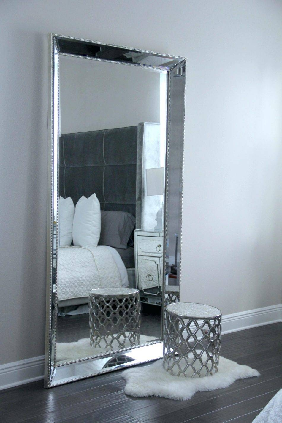 Standing Floor Mirrors Leaning Mirror Cheap Mirrorbig Black Large Within Black Floor Standing Mirrors (View 8 of 15)