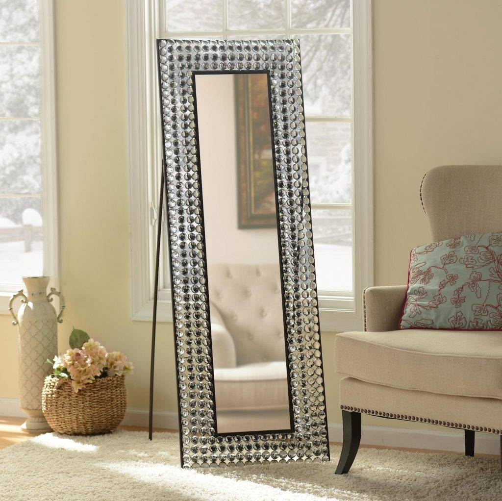 Stunning Floor Mirrors For Bedroom Including Bling Cheval Mirror with regard to Bling Floor Mirrors (Image 13 of 15)