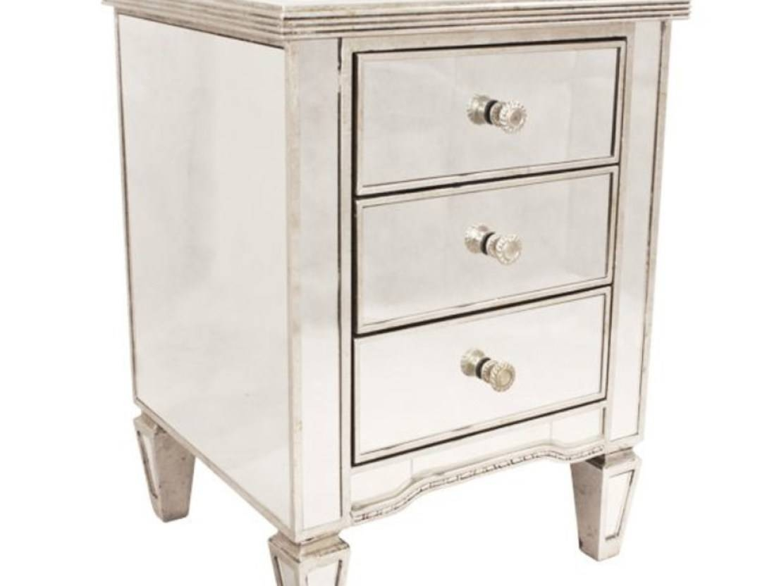Table : Venetian Mirror Bedside Tables With Drawers Amazing Inside Bedside Tables Antique Mirrors (View 14 of 15)