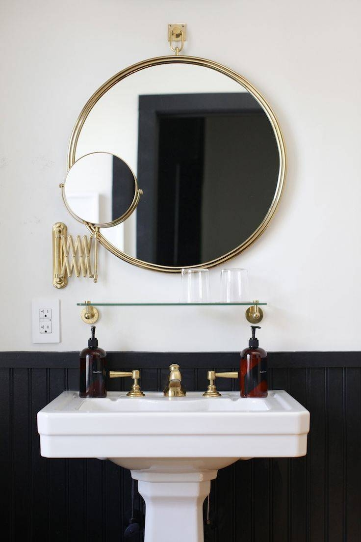 The 25+ Best Bathroom Mirror With Shelf Ideas On Pinterest in Funky Round Mirrors (Image 15 of 15)