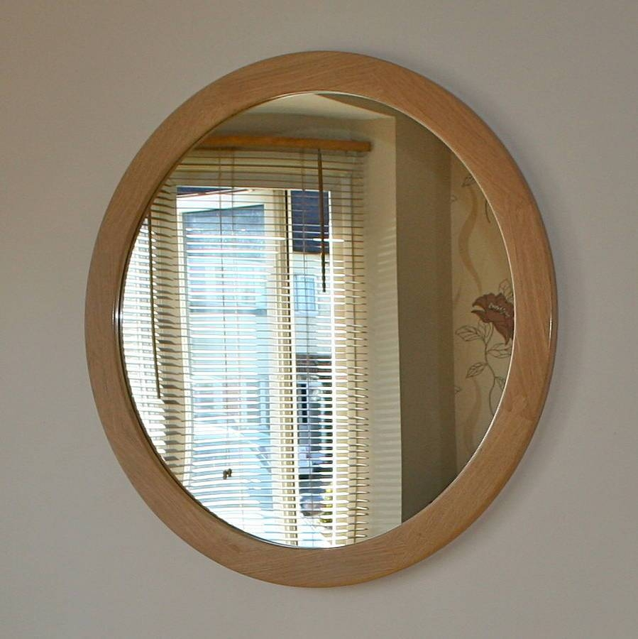 The Big Round Oak Mirrorwood Paper Scissors with Oak Wall Mirrors (Image 10 of 15)