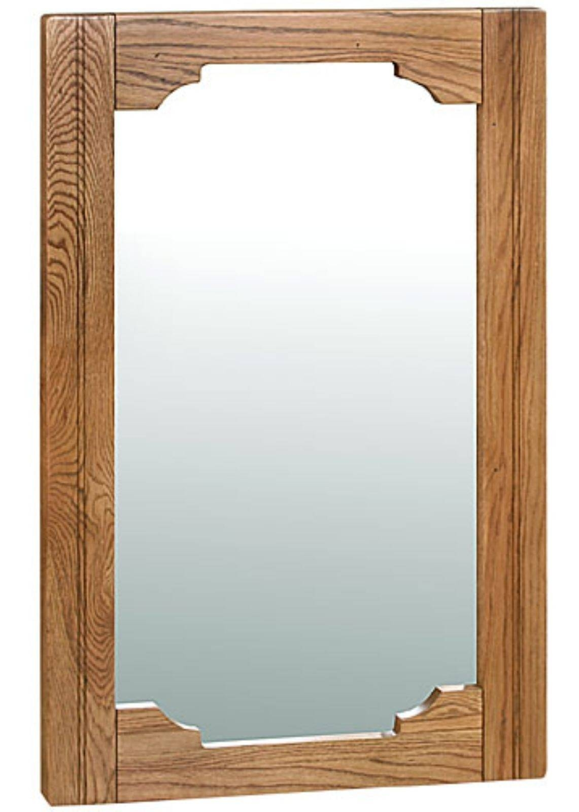 Toulouse Antique Oak Large Wall Mirror | Oak Furniture Solutions within Oak Wall Mirrors (Image 11 of 15)
