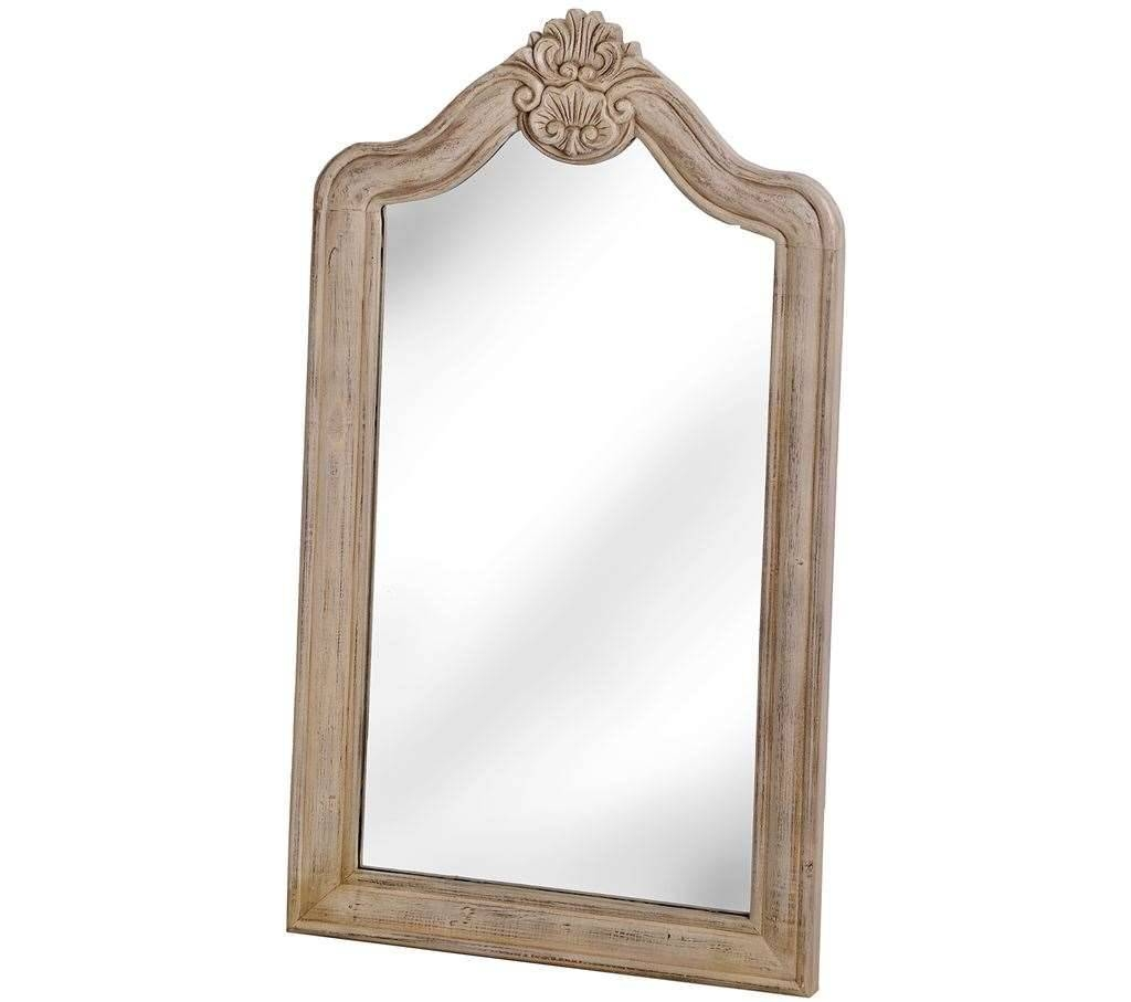 Traditional Limed Oak Large Wall Mirror within Oak Wall Mirrors (Image 12 of 15)