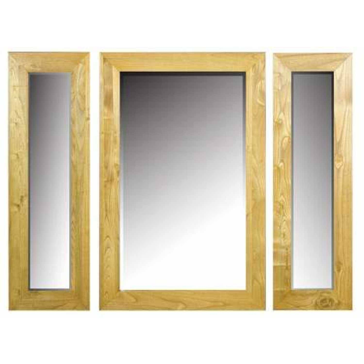 Traditional Milan Triple Wall Mirror Solid Sungkai Hardwood In Triple Wall Mirrors (View 3 of 15)