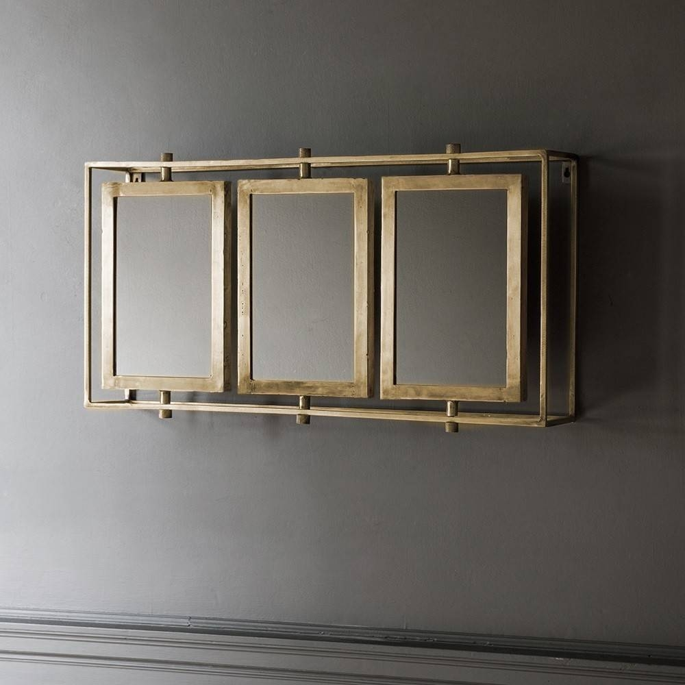 Tribeca Triple Wall Mirror – Antique Brass Throughout Triple Wall Mirrors (View 2 of 15)