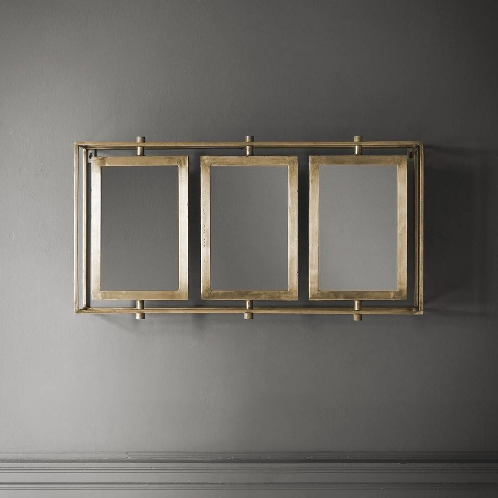 Tribeca Triple Wall Mirror – Antique Brass With Regard To Triple Mirrors (View 12 of 15)