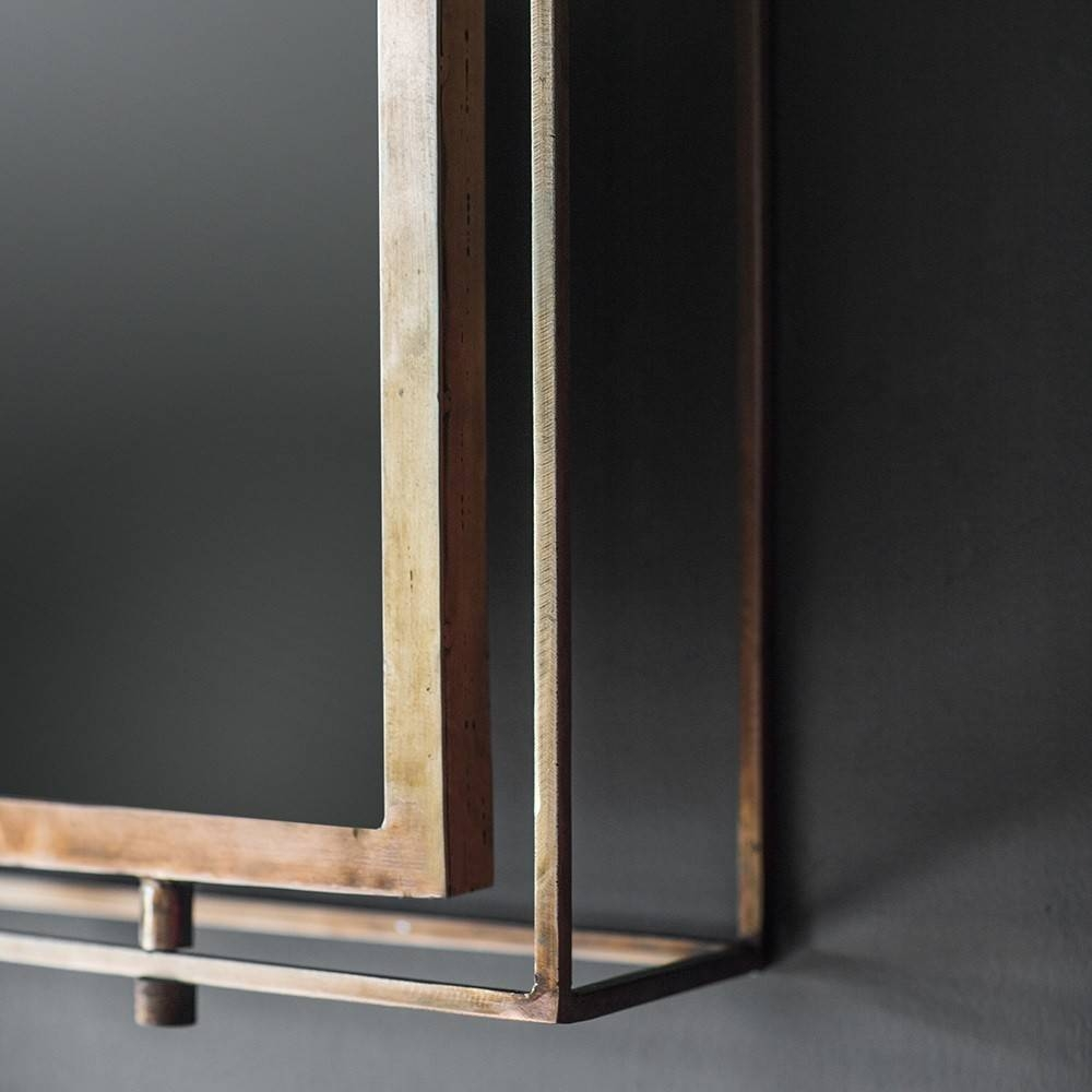 Tribeca Triple Wall Mirror – Antique Copper Pertaining To Triple Wall Mirrors (View 10 of 15)