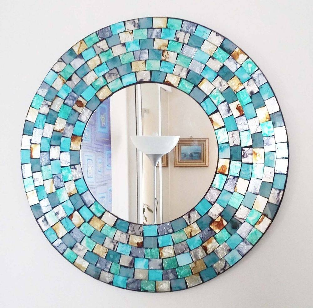 Unbranded Round Mosaic Decorative Mirrors | Ebay Pertaining To Round Mosaic Mirrors (View 2 of 15)
