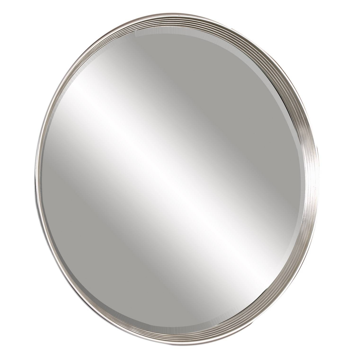 Uttermost 14547 Serenza Round Silver Mirror – Homeclick Inside Silver Round Mirrors (View 14 of 15)