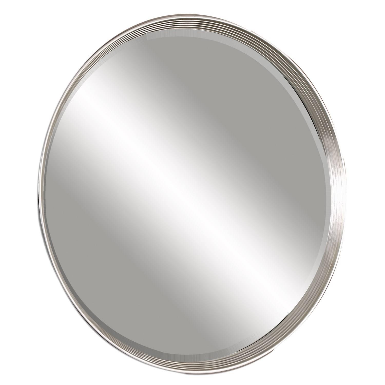 Uttermost 14547 Serenza Round Silver Mirror - Homeclick inside Silver Round Mirrors (Image 14 of 15)