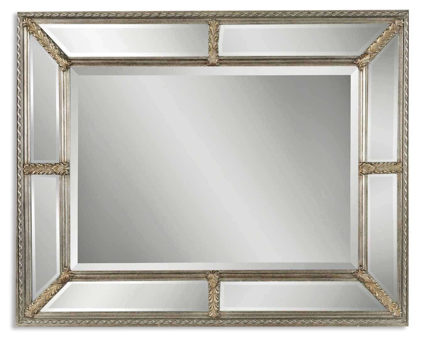 Uttermost Lucinda Antique Silver Mirror 14048 B for Champagne Silver Mirrors (Image 12 of 15)