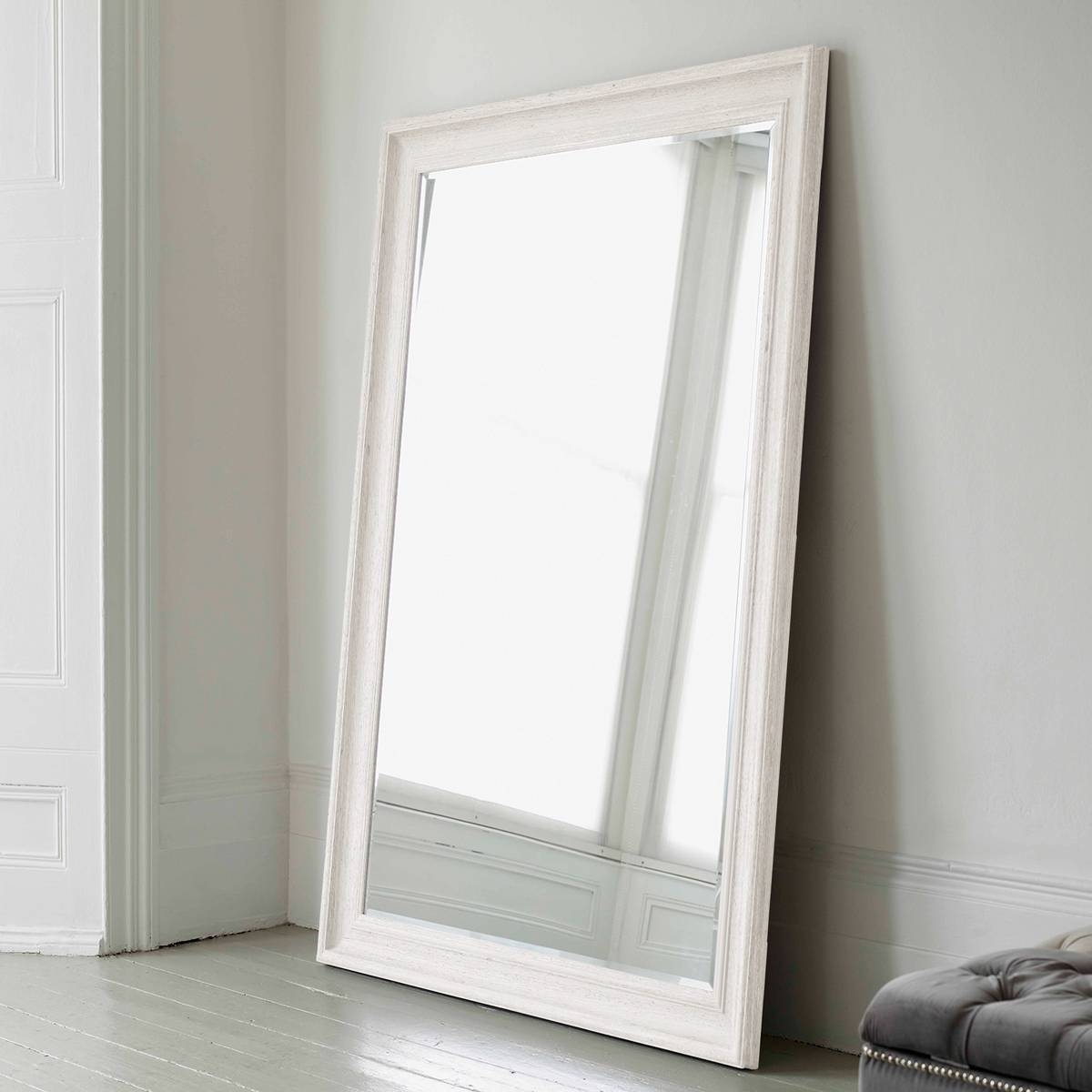 Vermont Oversized Mirror – Antique White | Brissi For Large White Antique Mirrors (View 15 of 15)