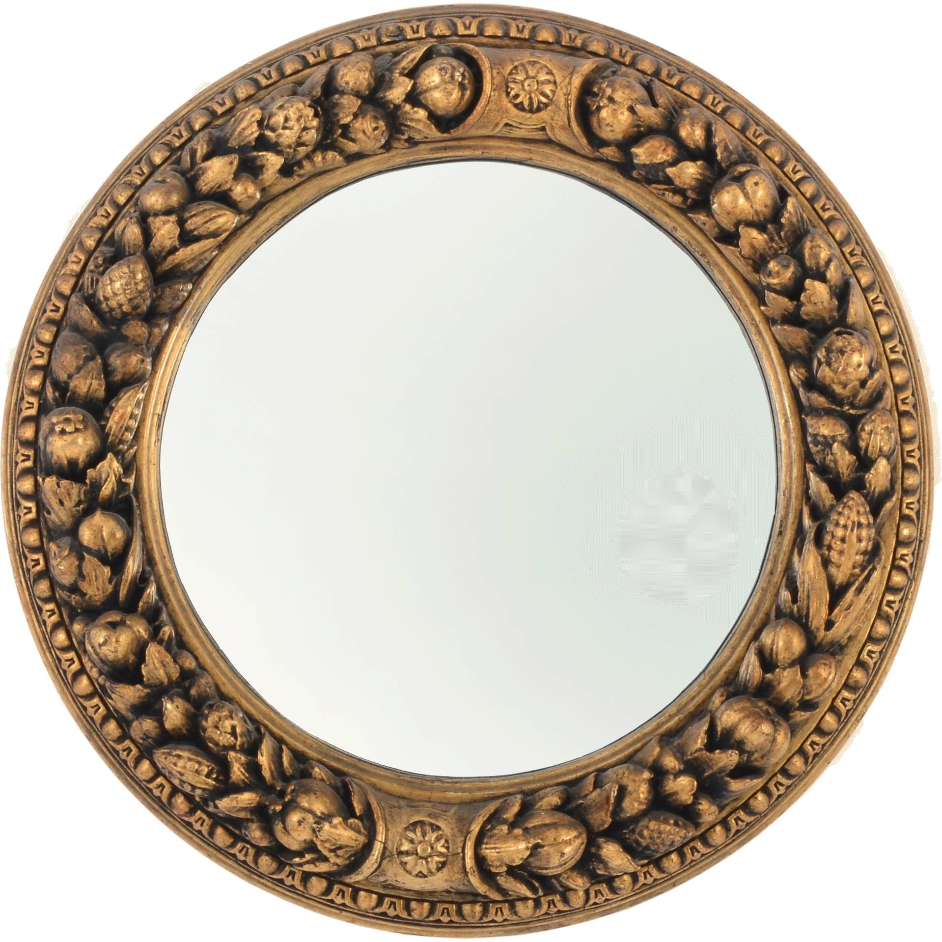 Victorian Round Gilt Mirror Sold On Ruby Lane Intended For Round Gilt Mirrors (View 6 of 15)