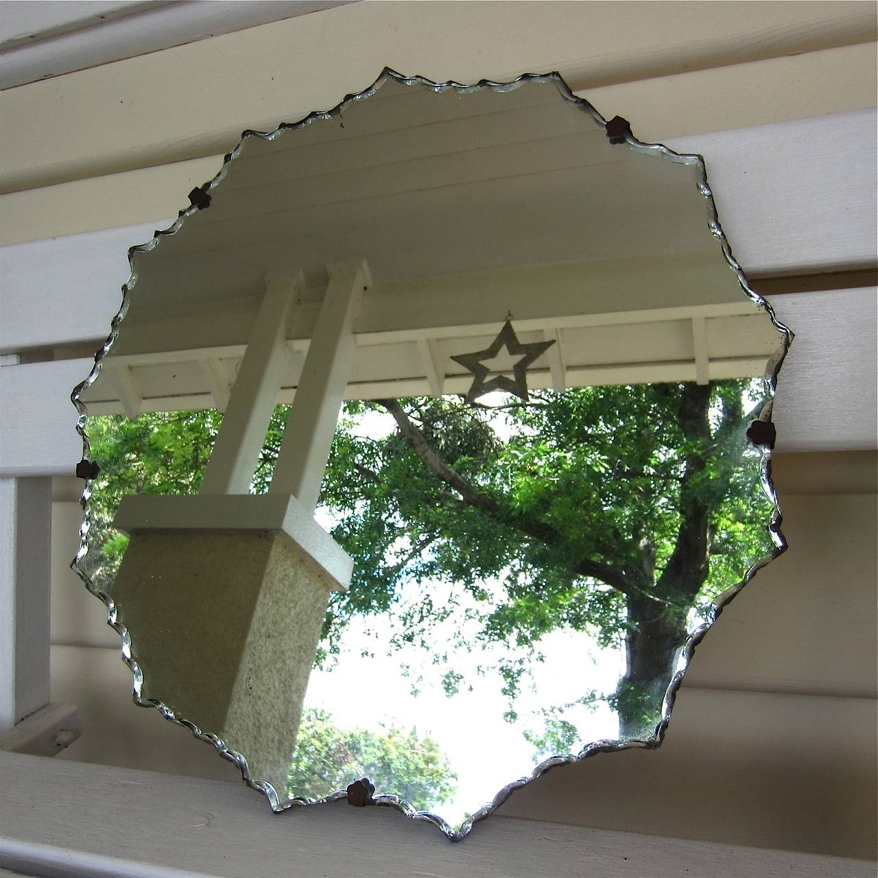 Vintage Bevelled Mirror ~ Sold – My French Finds Intended For Vintage Bevelled Edge Mirrors (View 3 of 15)