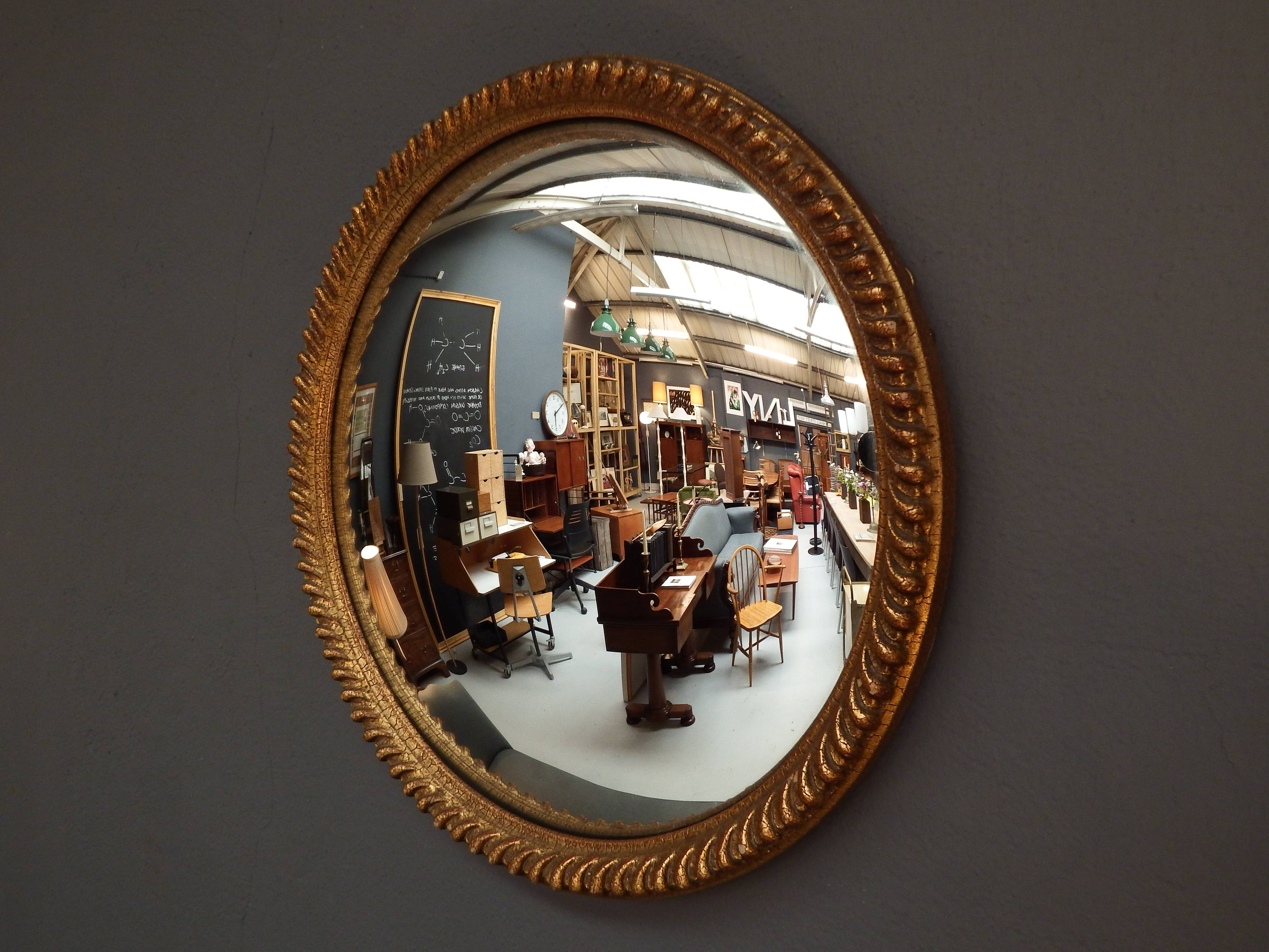 Vintage Convex Mirror | Drummond Reid Antiques inside Convex Wall Mirrors (Image 12 of 15)