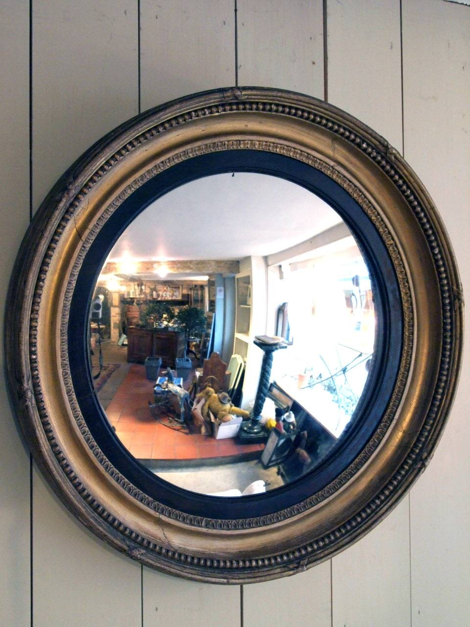 Vintage Convex Round Mirror – Round Designs In Round Bubble Mirrors (View 2 of 15)
