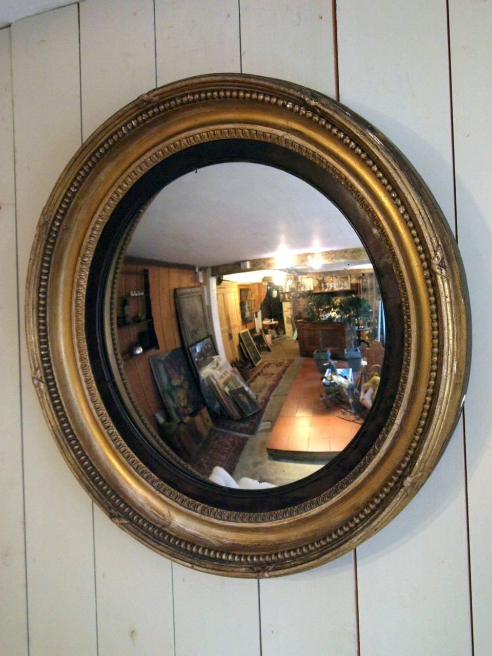 Vintage Convex Round Mirror – Round Designs Within Round Bubble Mirrors (View 3 of 15)