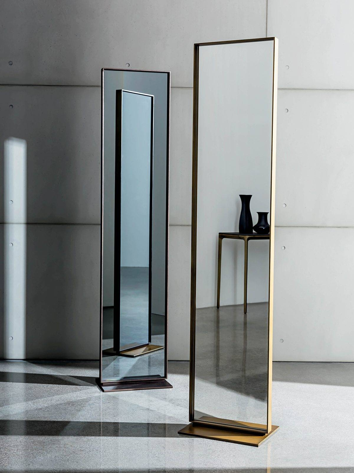 Visual – Full Length Framed Mirror – Double Sided Standing Regarding Standing Dressing Mirrors (View 15 of 15)