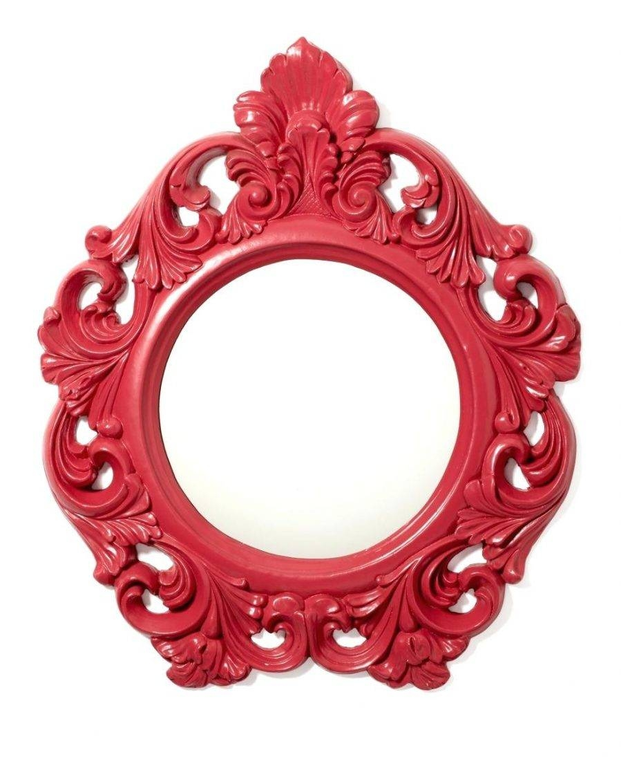 Wall Ideas : Large Red Wall Mirror Round Red Wall Mirror Red Wall Regarding Red Wall Mirrors (View 15 of 15)