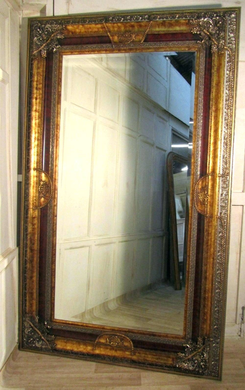 Wall Mirrors ~ Antique Gold Mirrors Antique Wall Mirrors For Sale for Extra Large Gold Mirrors (Image 14 of 15)