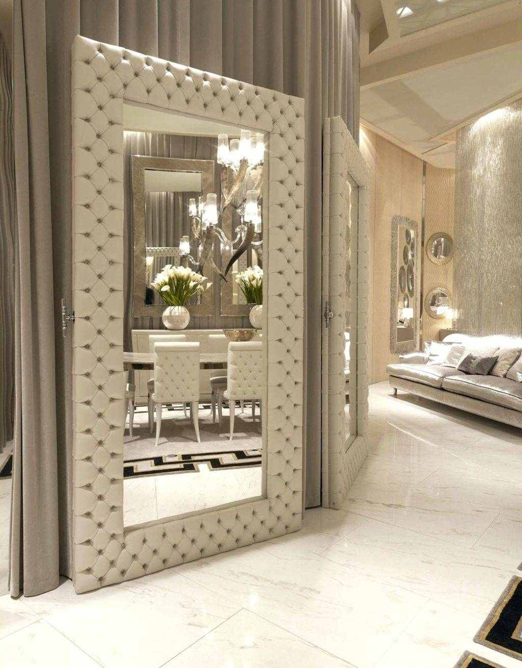 Wall Mirrors ~ Awesome Floor Mirrors For Bedroom Also Italian Regarding Wall Leather Mirrors (View 12 of 15)