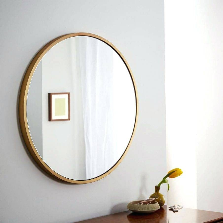 Wall Mirrors ~ Diy Rope Hanging Wall Mirrorjpg Large Round Wall with Large Round Metal Mirrors (Image 14 of 15)
