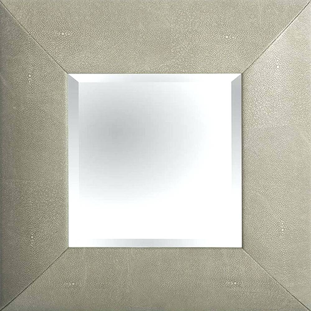 Wall Mirrors ~ Faux Leather Wall Mirror Mirrorslarge Modern Silver with Black Leather Framed Mirrors (Image 11 of 15)