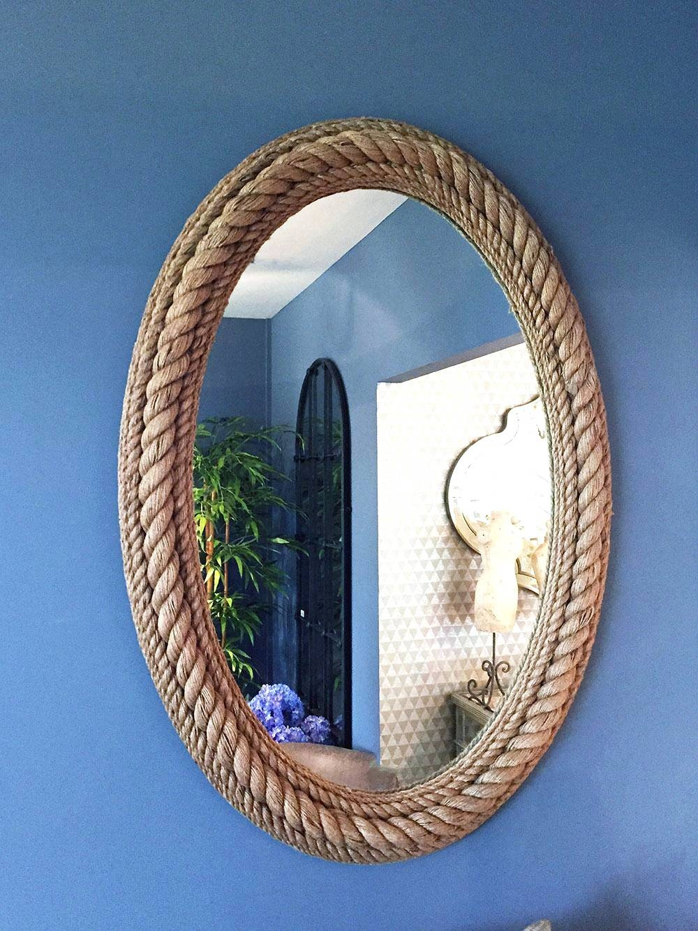 Wall Mirrors ~ Gold Diamond Shaped Mirror Vanity Decoration Inside Oval Shaped Wall Mirrors (View 12 of 15)