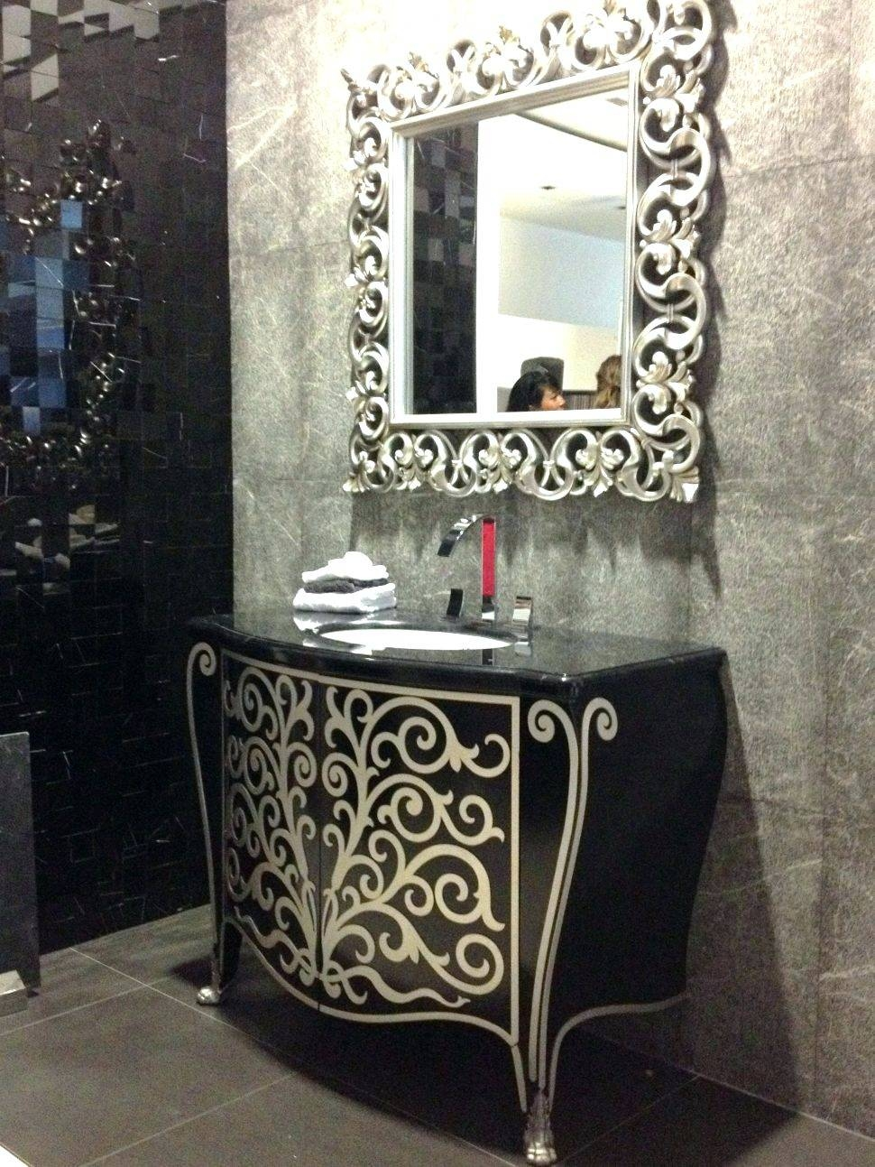 Wall Mirrors ~ Image Of Large Ornate Decorative Wall Mirror Fancy inside Fancy Mirrors (Image 15 of 15)