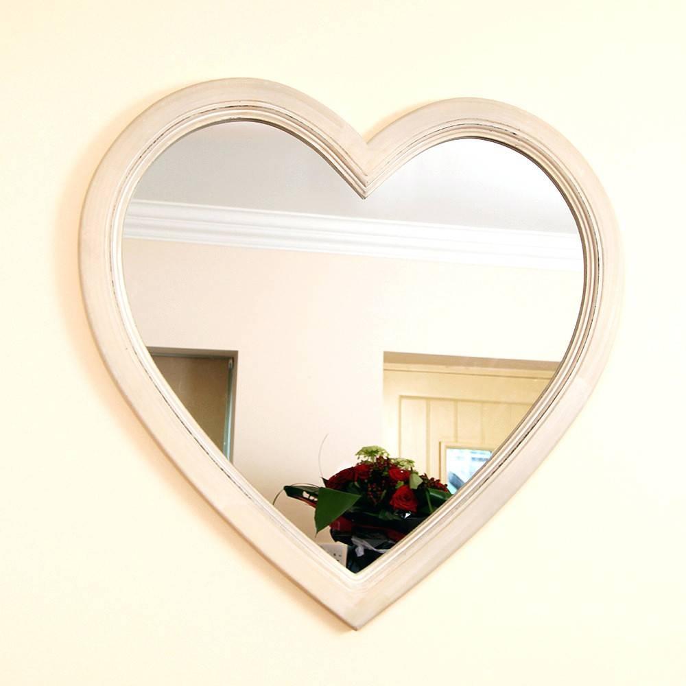 Wall Mirrors ~ Large Heart Shaped Wall Mirror Next Heart Rocco within Large Heart Mirrors (Image 14 of 15)
