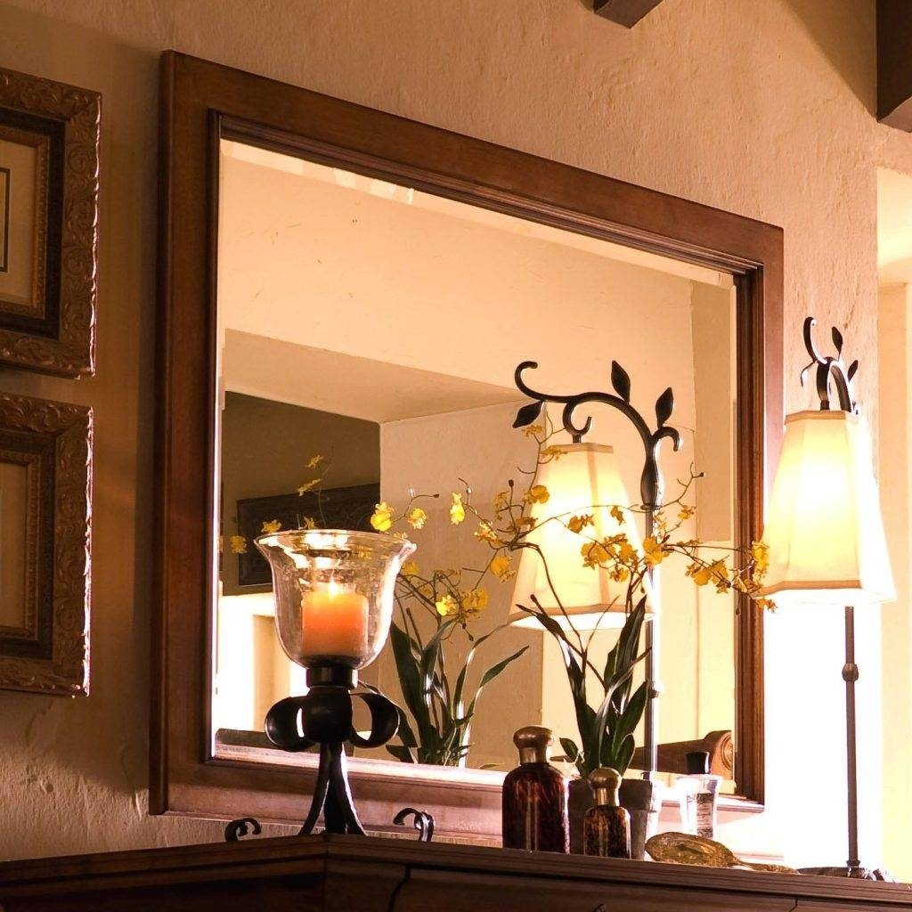 Wall Mirrors ~ Large Landscape Wall Mirror H Single Framed Mirror For Landscape Wall Mirrors (View 11 of 15)