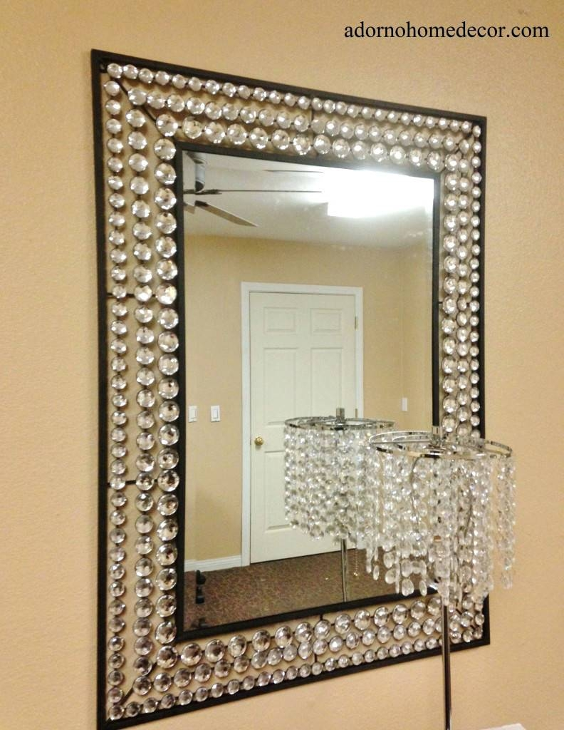 Wall Mirrors ~ Large Modern Decorative Wall Mirrors Attractive with regard to Large Metal Mirrors (Image 15 of 15)