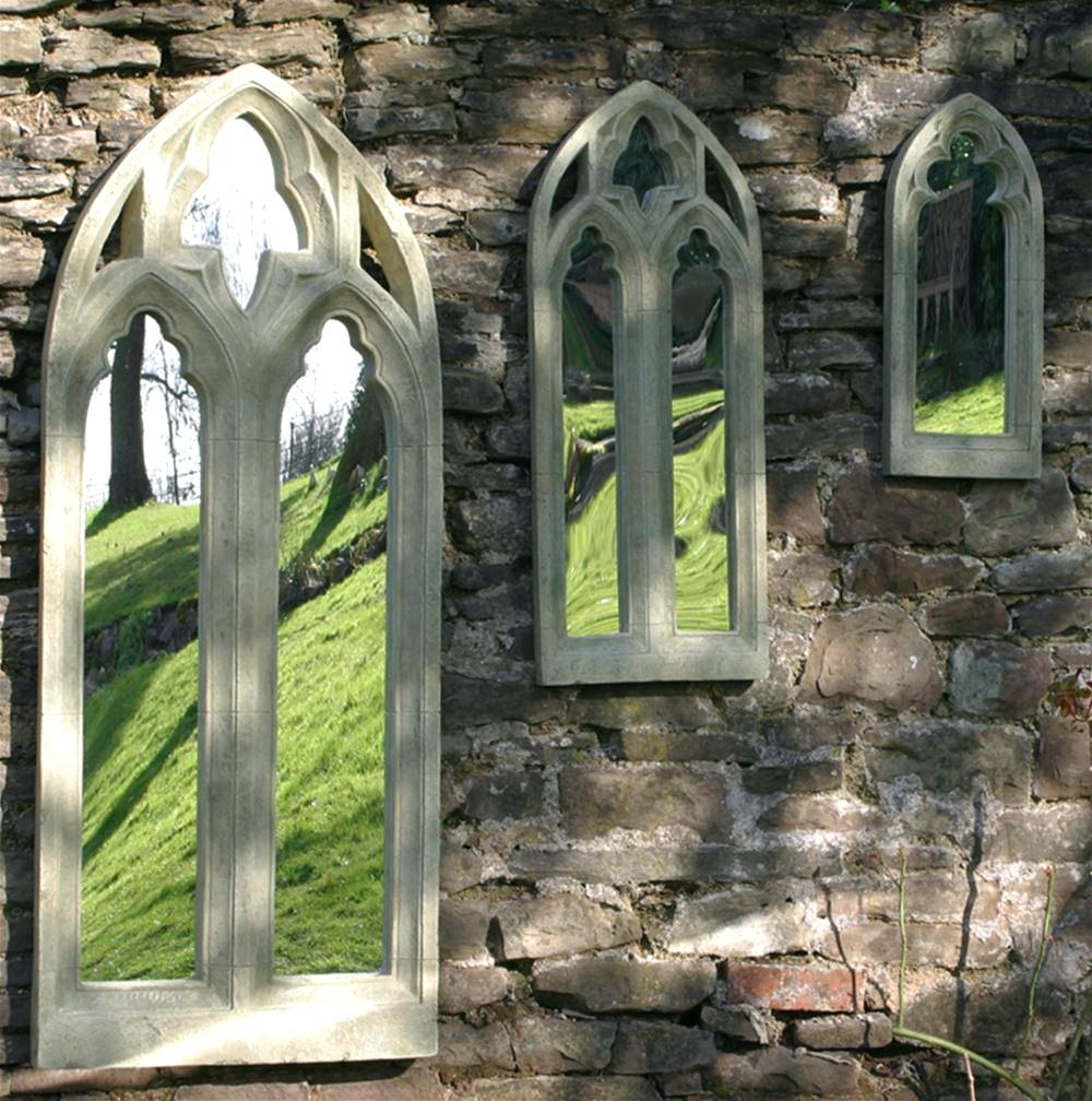 Wall Mirrors ~ Large Outdoor Garden Mirror Rustic Gothic Design in Large Outdoor Garden Mirrors (Image 14 of 15)