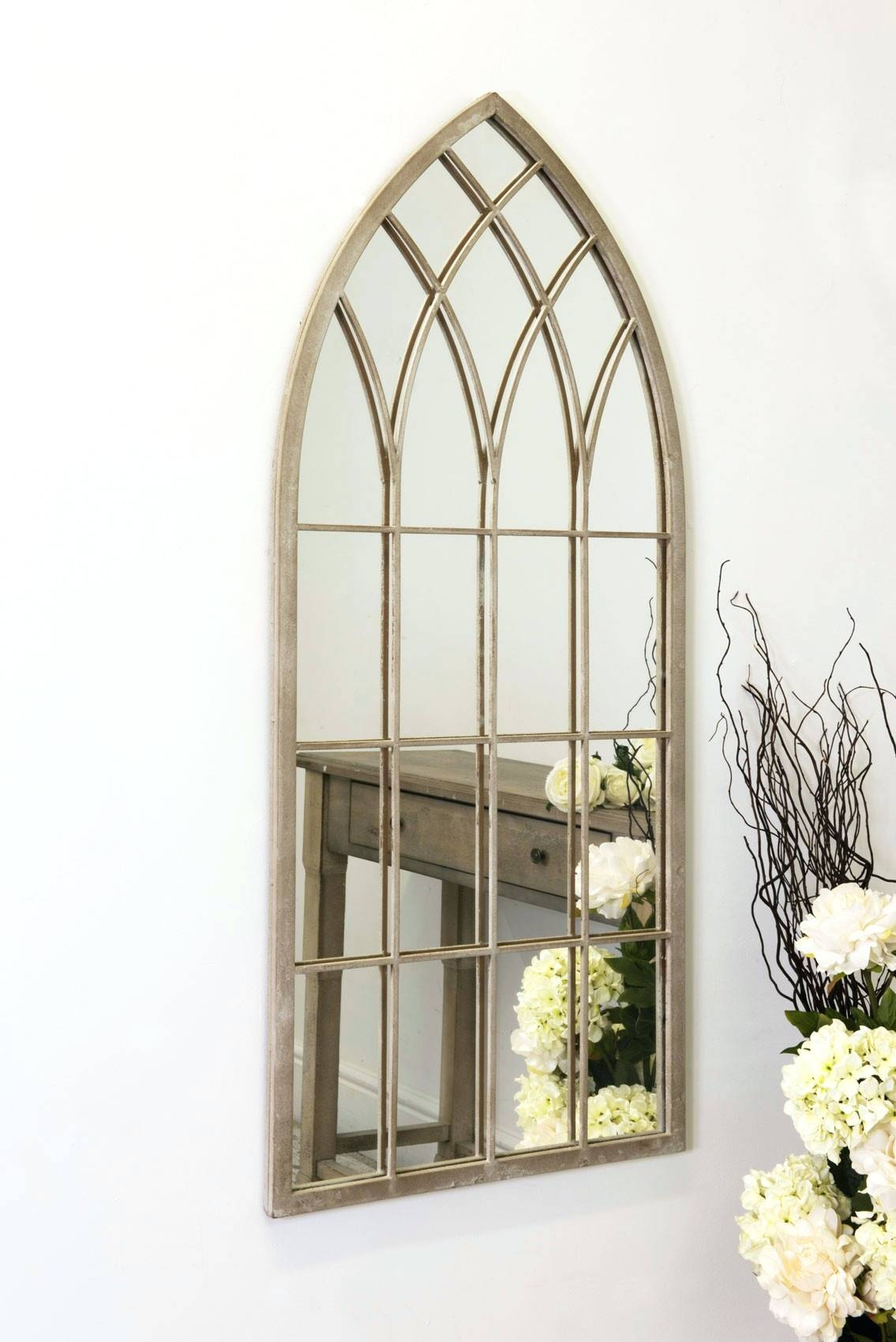 Wall Mirrors ~ Large Outdoor Garden Mirror Rustic Gothic Design With Large Outdoor Garden Mirrors (View 7 of 15)
