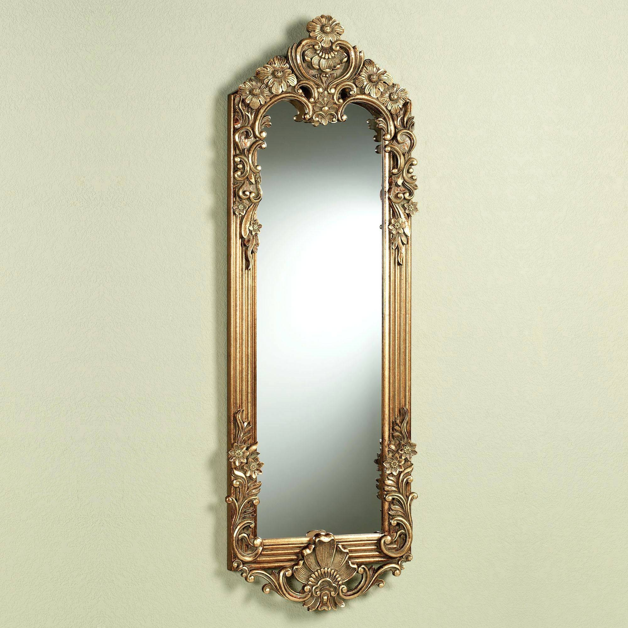Wall Mirrors ~ Large Round Gold Wall Mirror Cool Small Gold For Gold Mirrors (View 9 of 15)