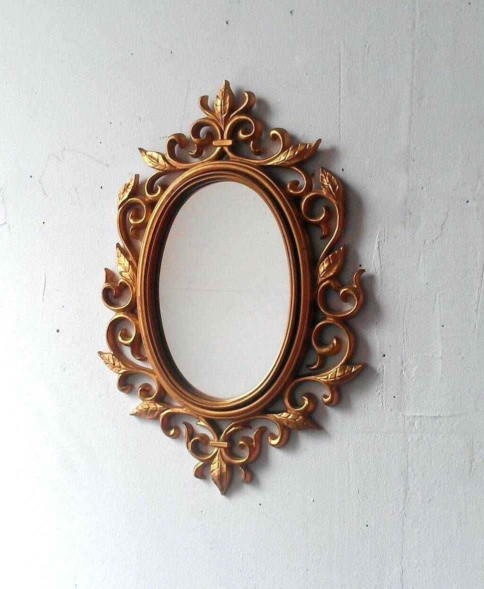 Wall Mirrors ~ Large Round Gold Wall Mirror Cool Small Gold Intended For Large Round Gold Mirrors (View 8 of 15)