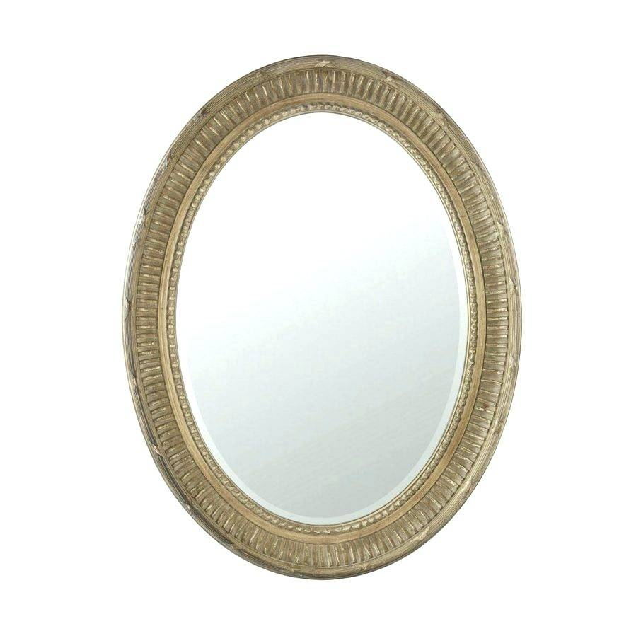 Wall Mirrors ~ Oval Wall Mirror Gold Oval Beveled Frameless Wall with White Oval Wall Mirrors (Image 13 of 15)