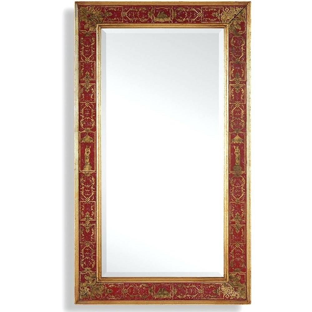 Wall Mirrors: Red Framed Wall Mirror. Red Framed Wall Mirror (View 8 of 15)