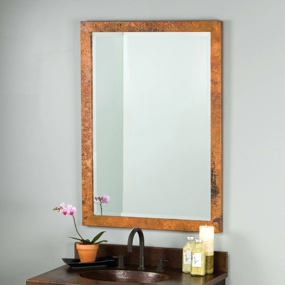 Wall Mirrors ~ Remarkable Wood Wall Mirrors Decorative Design With Intended For Red Wall Mirrors (View 14 of 15)