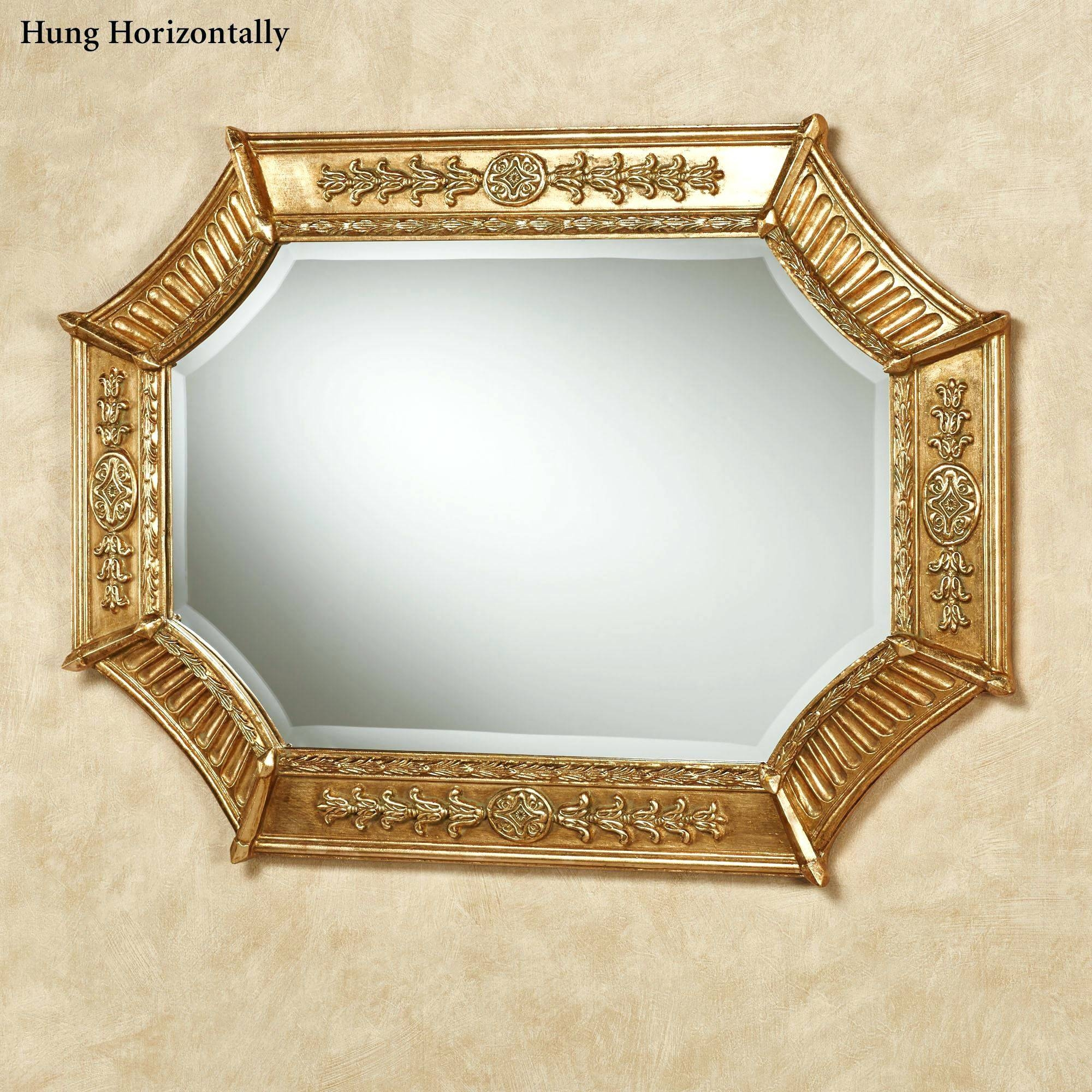 Wall Mirrors ~ Rose Gold Round Wall Mirror Small Gold Wall Mirrors intended for Large Round Gold Mirrors (Image 15 of 15)