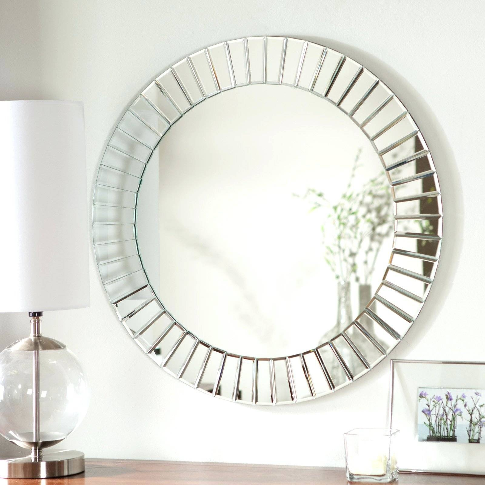 2018 best of round mosaic wall mirrors for Full size wall mirror