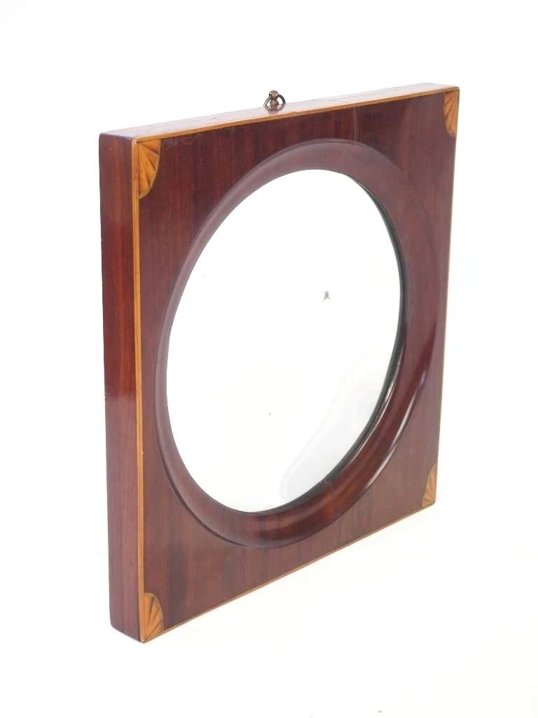Wall Mirrors ~ Round Wall Mirror Black Round Wall Mirror Antique Within Concave Wall Mirrors (View 15 of 15)